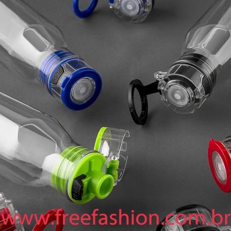 3100 SQUEEZE GARRAFA Garrafa plástica 700 ml com tampa e alça de mão em cores