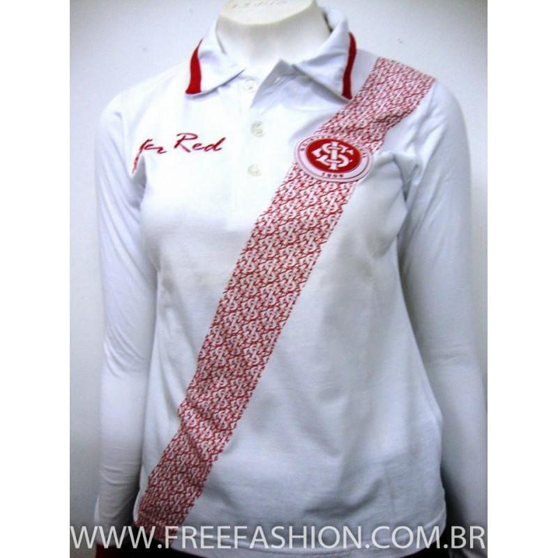 aaee61655a55a 23028-CAMISA GOLA POLO BABY LOOK P.A MANGA LONGA - Free Fashion