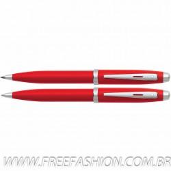 FE9950150 Conjunto Sheaffer Ferrari Esferográfica + Lapiseira Laca vermelha
