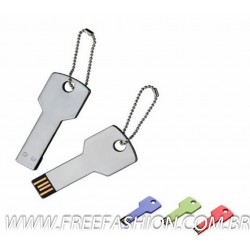 FF 249 PEN DRIVE METAL CHAVEIRO FORMATO CHAVE