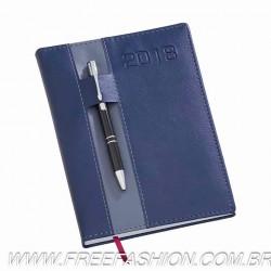 134 Agenda Diária Capa Vertical Azul -