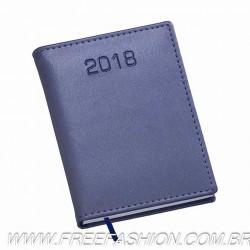 211 Agenda Compacta Capa Metalizada Lisa Azul