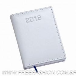 213 Agenda Compacta Capa Metalizada Lisa Prata