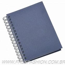 281L Agenda Wire-o Metalizada Lisa Azul - Capa Percalux