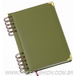 290 Agenda Wire-o Luxo Verde