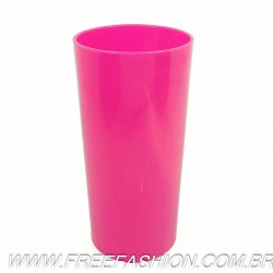 0320 Long Drink Economico 320 ML Rosa Fluor Solido