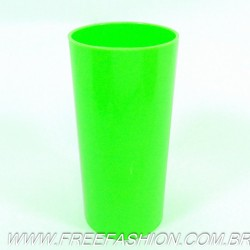 0320 Long Drink Economico 320 ML Verde Fluor Solido