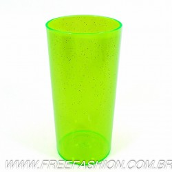 0320G Long Drink Economico 320 ML Verde Neon Glitter