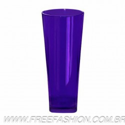 0350 COPO LONG DRINK BASE QUADRADA 350 ML ROXO