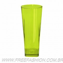 0350 COPO LONG DRINK BASE QUADRADA 350 ML VERDE NEON