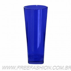 0350 COPO LONG DRINK BASE QUADRADA 350 ML AZUL