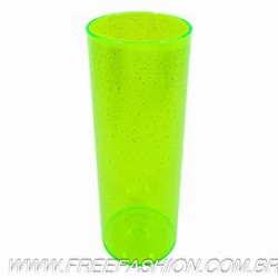 0350G COPO LONG DRINK 350 ML VERDE NEON GLITER