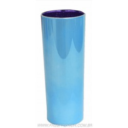 0350 COPO METALIZADO LONG DRINK 350 ML AZUL BEBE