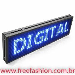 6820 Painel De LED, Letreiro Digital 68cm x 20cm Alto Brilho USB USO INTERNO