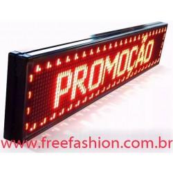 10020 Painel De LED, Letreiro Digital 100cm x 20cm Alto Brilho USO INTERNO