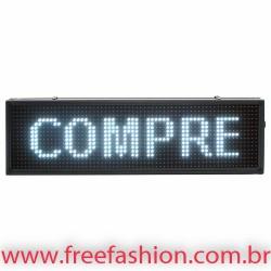 10020 Painel De LED, Letreiro Digital 100cm x 20cm Alto Brilho USO EXTERNO