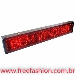 13523 Painel De LED, Letreiro Digital 135cm x 23cm Alto Brilho USB USO EXTERNO