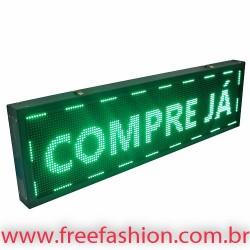 13540 Painel De LED, Letreiro Digital 135cm x 40cm Alto Brilho USB USO INTERNO