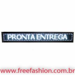 16723 Painel De LED, Letreiro Digital 167cm x 23cm Alto Brilho USB USO EXTERNO