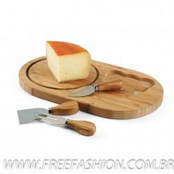 93976 Tábua de queijos. Bambu. 330 x 195 x 15 mm