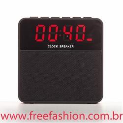 2071 Caixa de Som Bluetooth com Relógio Digital