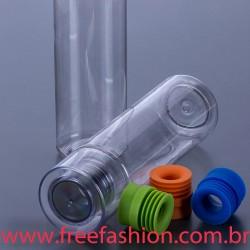 4000 SQUEEZE GARRAFA  Garrafa plástica 600 ml com borracha silicone em cores