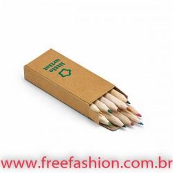 91931 Caixa de cartão com 10 mini lápis de cor