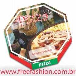 FREE 36 CAIXA PARA PIZZA 36,2 X 36,2 CM MIXTA