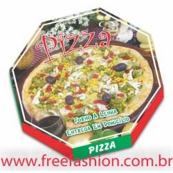 FREE 36 CAIXA PARA PIZZA 36,2 X 36,2 CM VEGETARIANA