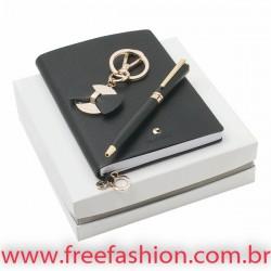 41058 BEAUBOURG. Kit caderno, chaveiro e esferográfica CACHARREL
