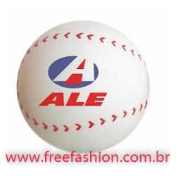 0007 Bolinha anti stress vinil oca c/ pintura Baseball Personalizada