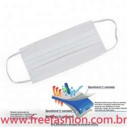 14452 Máscara Descartável SMMMS com Clipe Nasal (5 camadas de proteção)