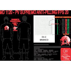01-C CAMISETA TRADICIONAL BRANCA PV SUPREMO ANTI PILLING UV 20+