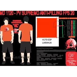 4170-ESP CAMISETA TRADICIONAL ANTI PILLING LARANJA