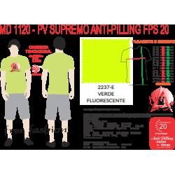 2237-ESP CAMISETA TRADICIONAL ANTI PILLING VERDE FLUORESCENTE