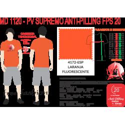 4172-ESP CAMISETA TRADICIONAL ANTI PILLING LARANJA FLUORESCENTE