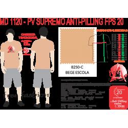 8250-C CAMISETA TRADICIONAL ANTI PILLING BEGE ESCOLA