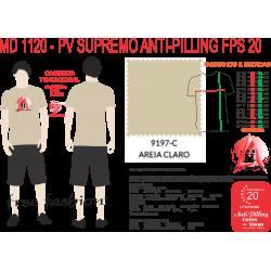 9197-C CAMISETA TRADICIONAL ANTI PILLING AREIA CLARO