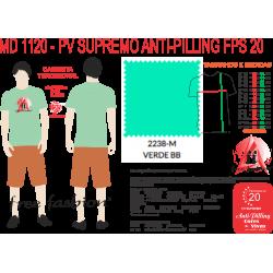 2238-C CAMISETA TRADICIONAL ANTI PILLING VERDE BB