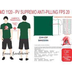 2244-ESP CAMISETA TRADICIONAL ANTI PILLING VERDE BANDEIRA