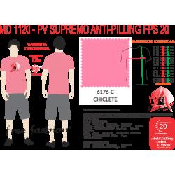 6176-M CAMISETA TRADICIONAL ANTI PILLING ROSA CHICLETE