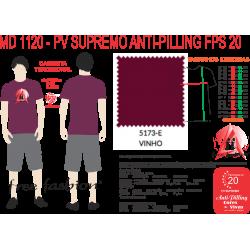 5173-M CAMISETA TRADICIONAL ANTI PILLING VINHO