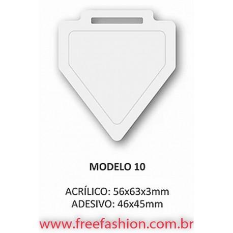 0010 MEDALHA DE ACRÍLICO RESINADA COM FITA