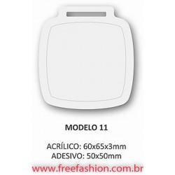 0011 MEDALHA DE ACRÍLICO COM RESINA E FITA