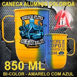 0003  CANECA ALUMÍNIO 850 ML BI-COLOR UNIVERSITÁRIA