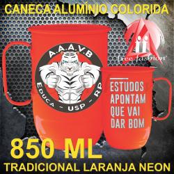 0004 CANECA ALUMÍNIO 850 ML NEON UNIVERSITÁRIA