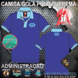 0005 CAMISA GOLA POLO PIQUET SUPREMO UNIVERSITÁRIO MASCULINA E BABY LOOK