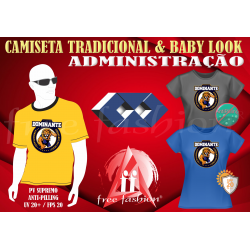 0006 CAMISETA UNISEX E BABY LOOK  PV UNIVERSITÁRIA