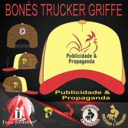 0008 BONÉ GRIFFE TRUCKER UNIVERSITÁRIO