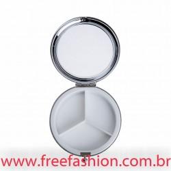 13966 Porta Comprimido Espelhado 3D